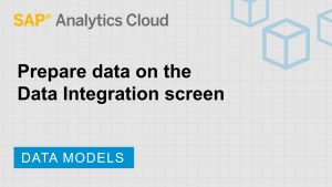 Image for Prepare data on the Data Integration screen