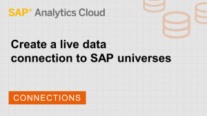 Image for Create a live data connection to SAP universes