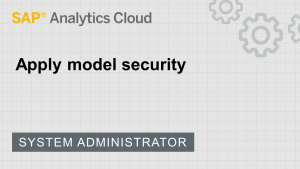 Image for Apply model security