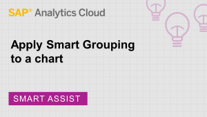Image for Apply Smart Grouping to a chart