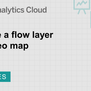 Image for Create a flow layer in a geo map