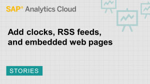 Image for Add clocks, RSS feeds, and embedded web pages