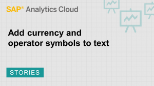Image for Add currency and operator symbols to text