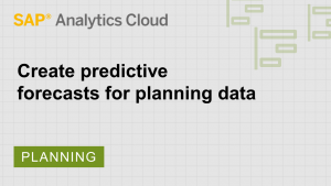 Image for Create predictive forecasts for planning data