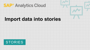 Image for Import data into stories