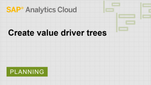 Image for Create value driver trees