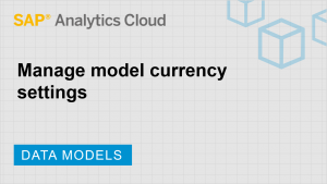 Image for Manage model currency settings