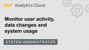 Image for Monitor user activity, data changes, and system usage