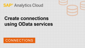 Image for Create connections using OData Services