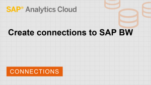 Image for Create connections to SAP BW