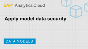 Image for Apply model data security
