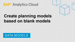 Image for Create planning models based on blank models