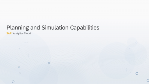 Image for Planning and Simulation in SAP Analytics Cloud
