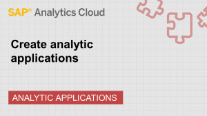 Image for Create analytic applications