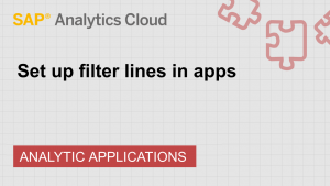 Image for Set up filter lines in apps